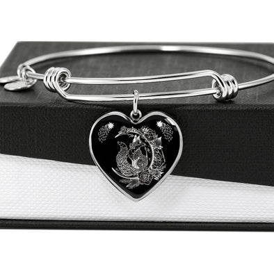 Mystical Fox - Heart Bangle