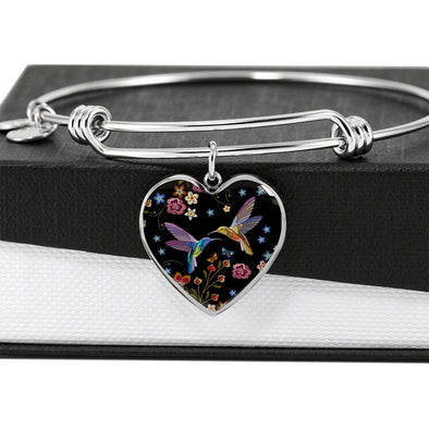 Bohemian Hummingbird - Heart Bangle
