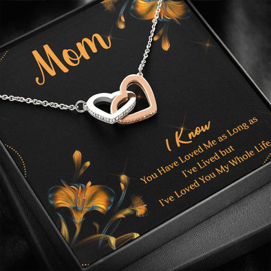 To My Mom - Interlocking Heart Necklace