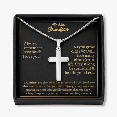 Dear Grandson - Artisan Cross Necklace