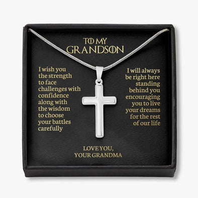 To My Grandson - Cross Necklace