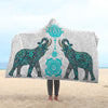 Lucky Mandala Hooded Blanket | woodation.myshopify.com