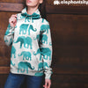 Watercolor Elephant Hoodie | woodation.myshopify.com