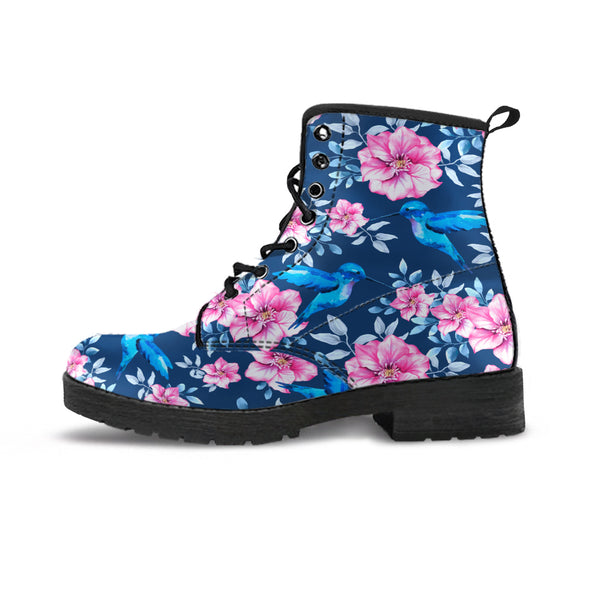 Floral Hummingbird Boots | woodation.myshopify.com