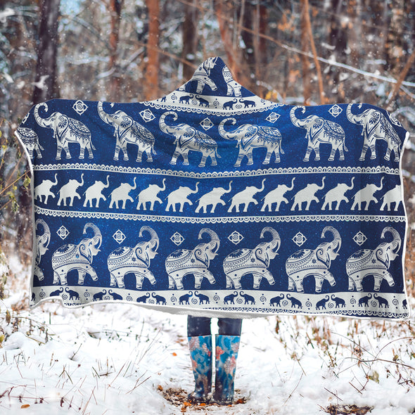 Free Spirit Elephant Hooded Blanket | woodation.myshopify.com