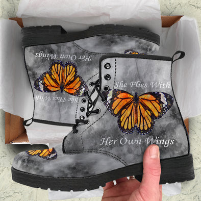 She Flies With Her Own Wings Premium Boots