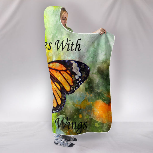 Butterfly Love Hooded Blanket | woodation.myshopify.com