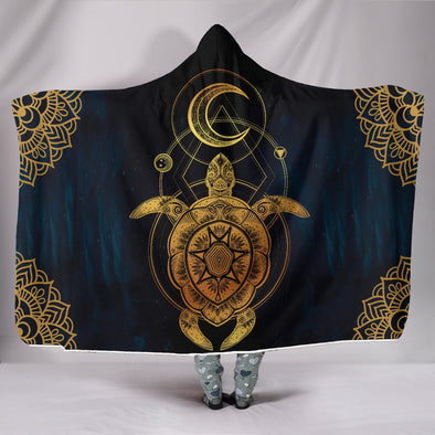 Lunar Turtle Hooded Blanket