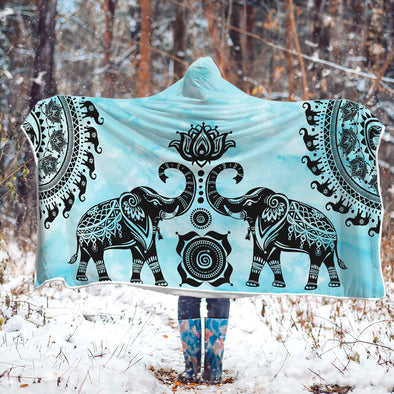 Watercolor Mandala Hooded Blanket | woodation.myshopify.com