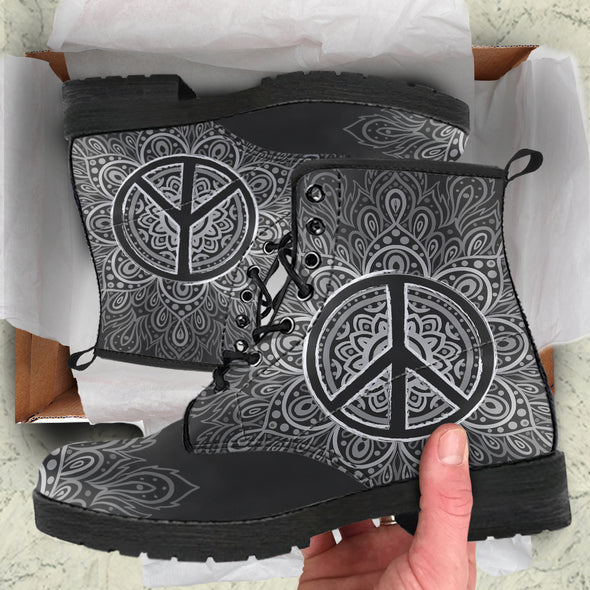 Peace & Love Boots | woodation.myshopify.com