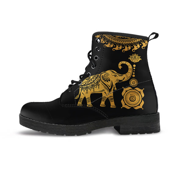 Golden Mandala Elephant Boots | woodation.myshopify.com
