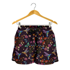 Bohemian Hummingbird Shorts