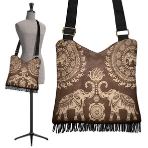 Brown Mandala Boho Handbag