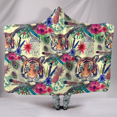 Bohemian Tiger Blanket | woodation.myshopify.com