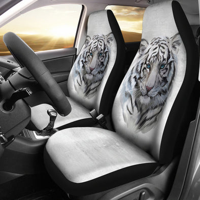 White Tiger Car Seat Covers