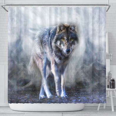 Mystical Wolf Shower Curtain