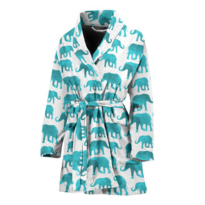 Watercolor Elephant Bathrobe | woodation.myshopify.com