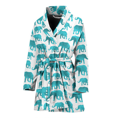 Watercolor Elephant Bathrobe