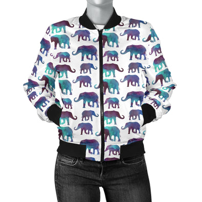 Watercolor Elephant Bomber Jacket