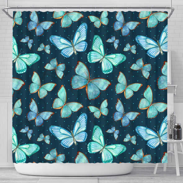 Spiritual Butterfly Shower Curtain | woodation.myshopify.com