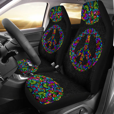 Bohemian Peace & Love Car Seat Covers
