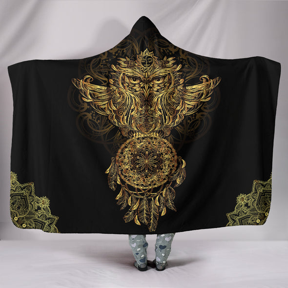 Spiritual Owl Hooded Blanket