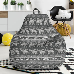 Grey Mandala Bean Bag Chair