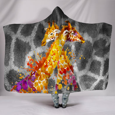 Giraffe Love Hooded Blanket