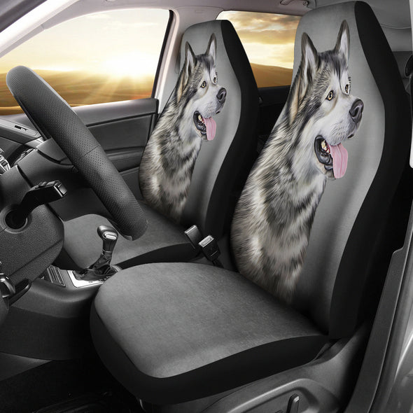 Alaskan Malamute Car Seat Covers | woodation.myshopify.com