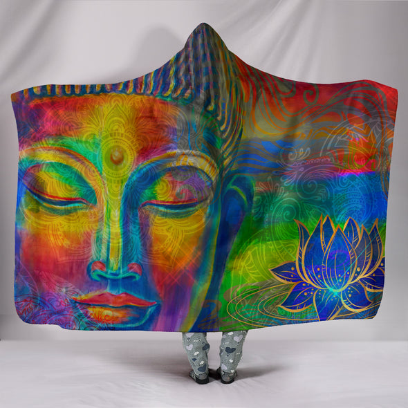 Spiritual Buddha Hooded Blanket