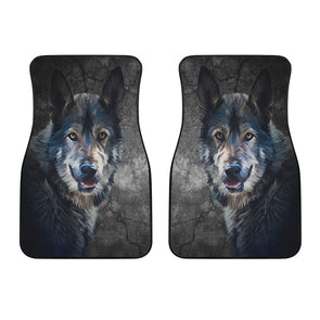 Wild Wolf Mats Front Car Mats (Set Of 2) | woodation.myshopify.com