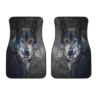 Wild Wolf Mats Front Car Mats (Set Of 2)