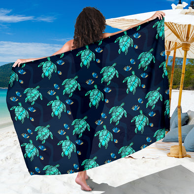 Turtle Love Premium Sarong | woodation.myshopify.com