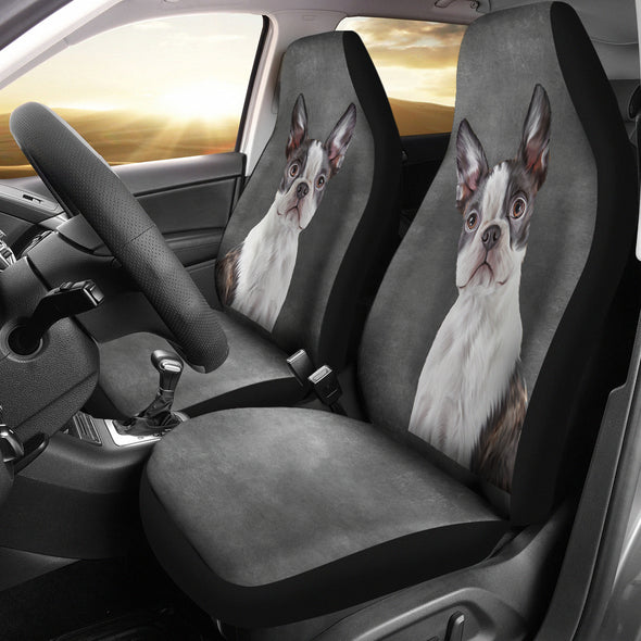 Boston Terrier Car Seat Covers | woodation.myshopify.com