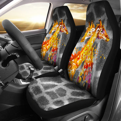 Giraffe Love Car Seat Covers