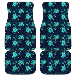 Turtle Love Front And Back Car Mats (Set Of 4) | woodation.myshopify.com