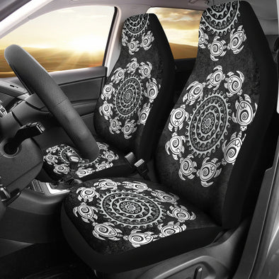 Turtle Mandala Car Seat Covers | woodation.myshopify.com