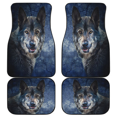 Wild Wolf Front And Back Car Mats (Set Of 4)