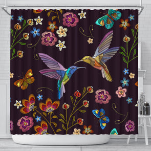 Bohemian Hummingbird Shower Curtain
