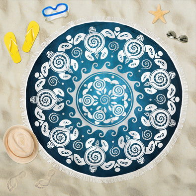 Turtle Mandala Beach Blanket