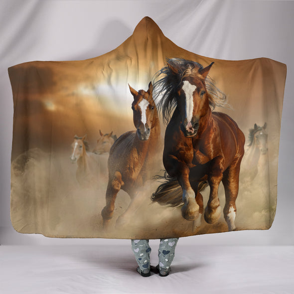 Freedom Horse Hooded Blanket | woodation.myshopify.com