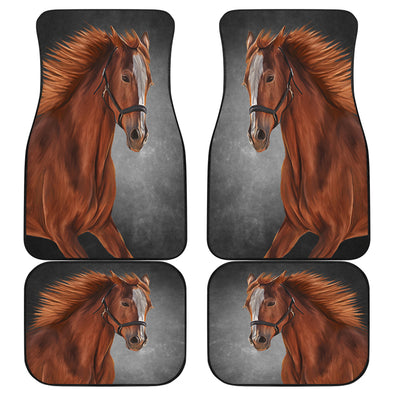 Horse Love Front And Back Car Mats (Set Of 4)