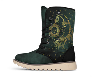Green Sun & Moon Polar Boots