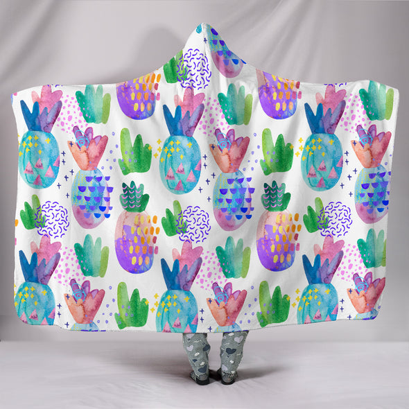 Pineapple Love Hooded Blanket | woodation.myshopify.com