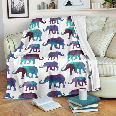 Watercolor Elephant Blanket | woodation.myshopify.com