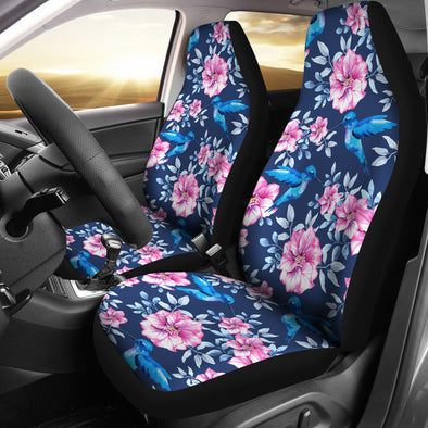Hummingbird Floral Car Seat Covers