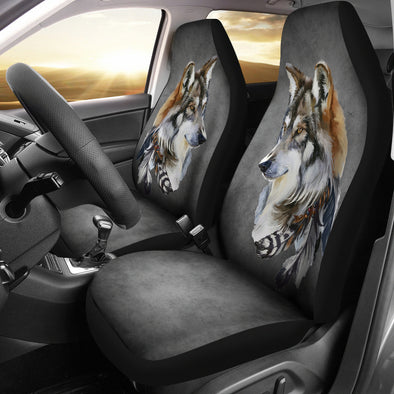 Tribal Wolf Car Seat Covers