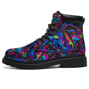 Bohemian Acid Style All-Season Boots