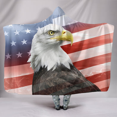 Patriot Eagle Hooded Blanket