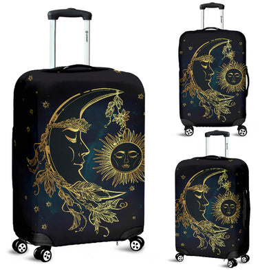 Sun And Moon Luggage Covers